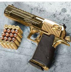 Gold Desert Eagle Hand Guns Tactical Life Gear Firearms Deserts