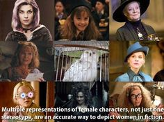 The different kinds of females. I love that Hedwig is included in this