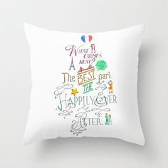 "The Happily Ever After by The Art Of Young Adult THROW PILLOW / INDOOR COVER (20"" X 20"") WITH PILLOW INSERT $35.00"
