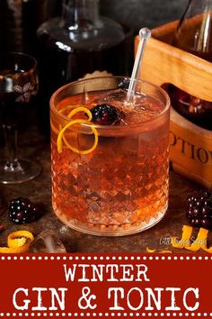 The Winter Gin & Tonic is a twist on the classic G&T. A dash of elderflower liqueur, sloe gin & Campari team up with gin & tonic to create a drink with a pretty blush and a hint of fruit. #wintergin #wintergintonic #winterginandtonic #ginandtonic #sloegin #sloegincocktail #sloeginandtonic Winter Cocktails, Sloe Gin Cocktails, Frozen Cocktails, Classic Cocktails, Fun Cocktails, Alcoholic Drinks, Cocktail Recipes, Beer Recipes, Punch Recipes