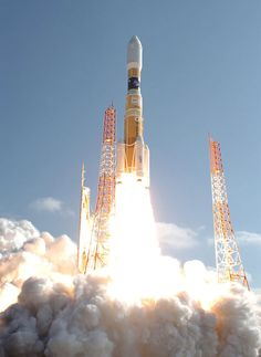 JAXA's HTV lifts off from the Tanegashima Space Center in southern Japan. HTV is an unmanned resupply vessel for the International Space Station.