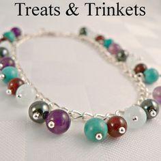 Aquarius Bracelet - Turquoise, Garnet, Aquamarine, Hematite & Amethyst