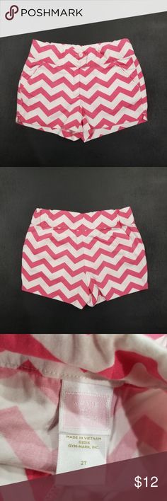 2T Girls Janie and Jack Pink Stripe Shorts ☆Excellent condition  ☆Clean, stain free  ☆Smoke and pet free  ☆No holds/trades  ☆No discount on custom items Janie and Jack Bottoms Shorts