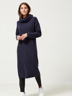 MOHAIR - KNITTED DRESS, Dark Sapphire, large