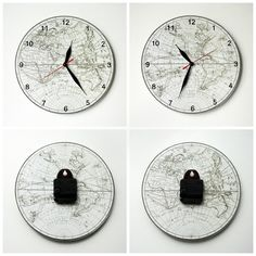 The clock with the ancient world map d 25 cm the clocks the clock with the ancient world map d 25 cm gumiabroncs Gallery