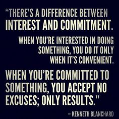interest vs commitment.