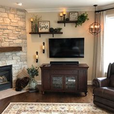 added a photo of their purchase Decor, Room, Home Living Room, Home, Cozy House, Farmhouse Style Living Room Decor, Apartment Decor, Room Signs, Living Room Tv Wall