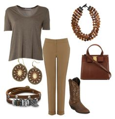 """""""Thursday Outfit"""" by direyna on Polyvore featuring T By Alexander Wang, Warehouse, Laredo, MooMoo Designs and BillyTheTree"""