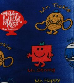 Fleece Print: Mr.Men at Joann.com. Oh I loved this when I was little!!