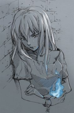 Tags: Anime, Avatar: The Last Airbender, Azula, Blue Flame, Spot Color, Kellylee