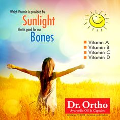 Which Vitamin is provided by Sunlight that is good for our Bones? Choose the right Option - #Drortho   Comment, Like & Share with Everyone.  Buy Dr Ortho Products Online : www.drorthooil.com | 24X7 Helpline: 0171-3055100