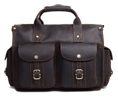 Work Office Heavy Load Leather Briefcase for only $245 at Serbags!
