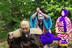 10 Akita Hachirogata town Child Gannin Dance 2015 2015年5月5日 八郎潟町 一日市神社 子供願人踊り
