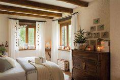 00354113. Dormitorio rústico decorado de Navidad 00354113