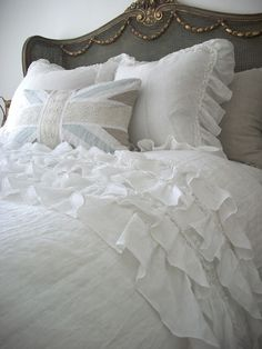 Ruffled bed spread