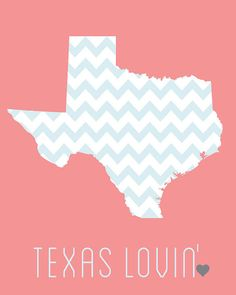 Chevron Texas State 8x10 Digital Print found on #etsy #iSewBlessed