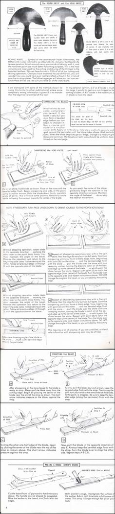 About how to sharpen a headround knife by Al Stohlman #leathercraft #leathertools #leatherwork #leather #craftntools