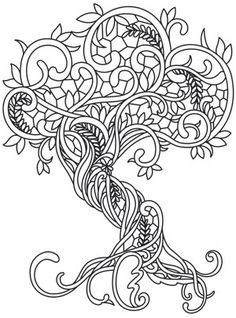 tree coloring page 12 Vrityskirja Pinterest Adult coloring