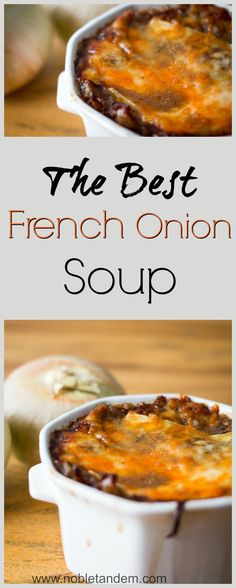 with this perfect, heavenly, flavorful, simple, meal-I-could-eat-every-day soup. The ultimate comfort food! The best French onion soup. Find the recipe here :http://www.nobletandem.com/recipe/the-best-french-onion-soup/