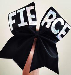 FIERCE holographic Spandex Black Cheer Bow Cheerleading Bows, Cheer Stunts, Cheer Coaches, Cheer Dance, Cute Cheer Bows, Big Bows, Cheer Mom, Emoji Bows, Cheer Practice