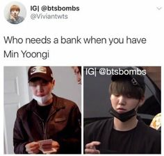 Bangtan's economist, banker & financial advisor. He is... Min Yoongi!