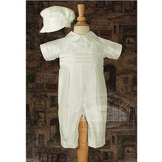 Baby Boys White Silk Buttoned Baptism Outfit Set 3M  #LittleThingsMeanALot #Apparel