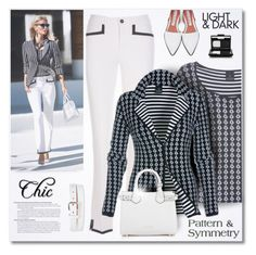 """Pattern & Symmetry"" by passion-fashion-2 ❤ liked on Polyvore featuring Acne Studios, NARS Cosmetics, Shabby Chic and Burberry"