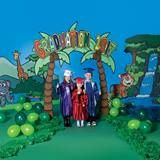 Take your little graduates to a friendly jungle for their graduation day with our Jungle Jamboree Prop Set. It's full of appropriate jungle decor for preschool and kindergarten graduations. Kindergarten Graduation, Graduation Day, 9 And 10, Preschool, Kids, Bulletin Boards, Classroom, Decorations, Young Children