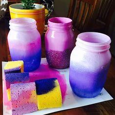 Shannon Gibb: DIY: Mermaid Ombre Mason Jars
