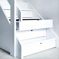 Not enough storage? Use stair drawers!