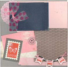 @cartabellapaper Words of Love line #scrapbooking 2 page scrapbooking layout kit LOVE NOTES #papercrafting #love