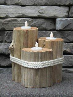 36 ideas driftwood tree diy candle holders for 2019 Dollar Tree Gifts, Dollar Tree Decor, Christmas Tree Tops, Christmas Tree Painting, Geometric Trees, Wooden Candle Holders, Wood Creations, Diy Candles, Wood Design