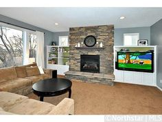 Fireplace stone and wall color