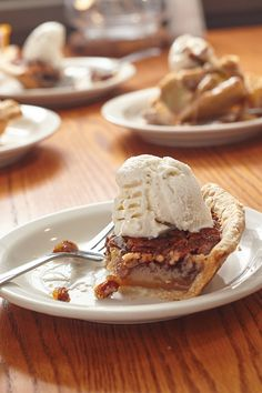 A slice of pecan pie. Now, that's a slice of the good life.