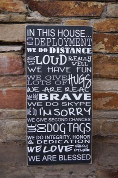 In this house we do deploymentmilitary family sign  by SAWTHESIGN