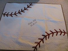 Baseball quilt by Karen Beers /// 3rdRevolution