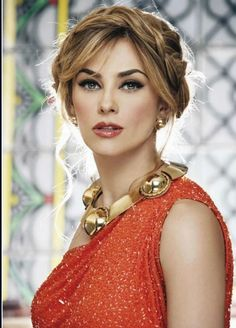 Aracely Arambula Mexican Hairstyles, Party Hairstyles, Glamour, Orange Mode, Gorgeous Women, Beautiful People, Mexican Actress, Bollywood Wedding, Latin Women