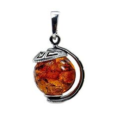 Amber Ring, Amber Jewelry, Sterling Silver Jewelry, Gemstone Jewelry, Globe Pendant, Baltic Amber, Christmas Bulbs, The Incredibles, Gemstones