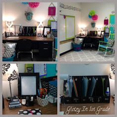 Glitzy In 1st Grade: 2012/13 Classroom Decor --- I need to transform this to fit my high school classroom!