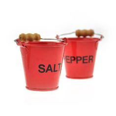 Pinch Pots Salt And Pepper Fire Buckets  #gifts #quirky #birthday #gift #santa #sale #shopping #cool #xmas #stocking