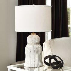 Carved Tassel Lamp