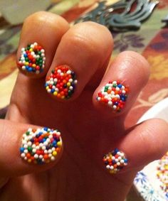 How to Make Sprinkle Nails with REAL candy