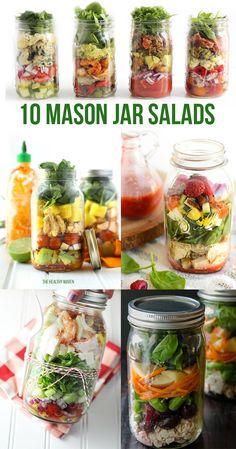10 Mason Jar Salads