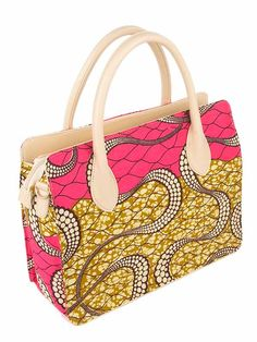 Superb african fabric handbag handcrafted : http://www.africanpremier.com/african-fabric-design-handbag-with-leather-handle-bag005-4.html