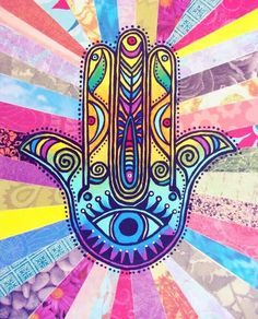 Want to see art related to hamsa? Scroll through inspiring examples of artwork on DeviantArt and find inspiration from our network of talented artists. Psychedelic Art, Elefante Hindu, Hamsa Art, Psy Art, Hand Of Fatima, Hippie Art, Trippy, Peace And Love, Zentangle