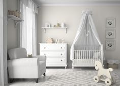 pokój niemowlęcy, kołyska, kocham urządzanie, białe wnętrze