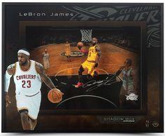 "LEBRON JAMES Autographed ""Lift Off"" 16 x 20 Shadowbox UDA - Game Day Legends"