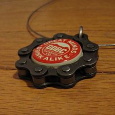 Chain & Beer Cap Pendant for Chivers