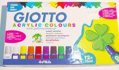 ***ΣΧΟΛΙΚΗ ACRYLIC COLOUS GIOTTO 12X12ml Ακρυλικά χρώματα