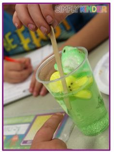 Fun with Peeps at Simply Kinder!  Includes a graphic organizer and senses freebie!